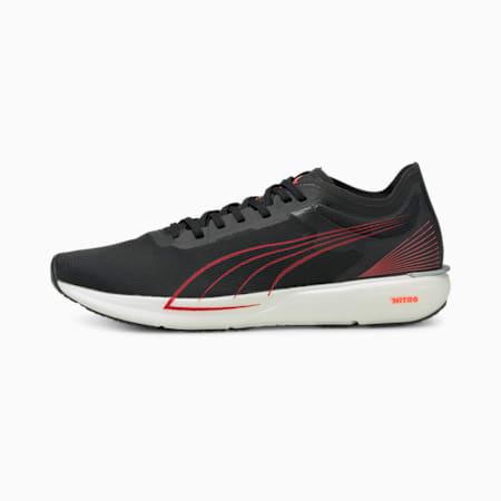 Liberate Nitro Men's Running Shoes, Puma Black-Lava Blast, small-IND