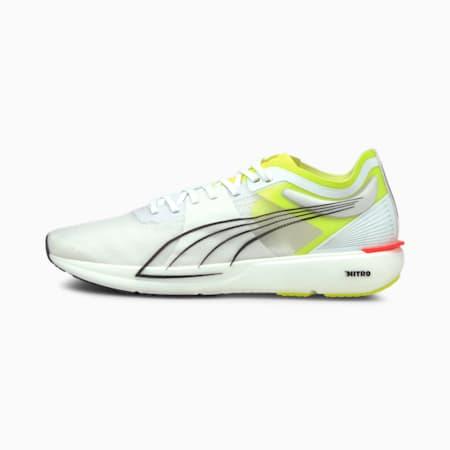 Zapatos para correr Liberate NITRO para hombre, Puma White-Yellow Alert, pequeño