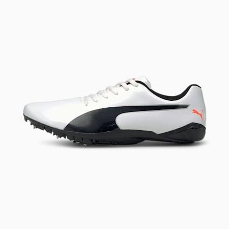 evoSPEED Prep Sprint 2 Unisex Running Shoes, Puma White-Puma Black-Lava Blast, small-IND