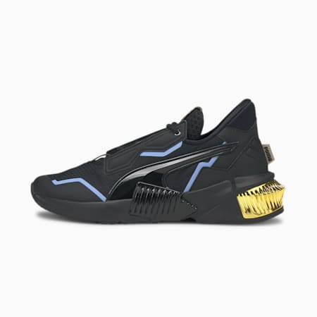 Provoke XT Dark Dreams Mid Women's Training Shoes, Puma Black-Elektro Purple, small-IND