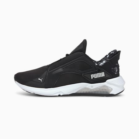 LQDCELL Method Untamed Floral Women's Training Shoes, Puma Black-Metallic Silver, small-IND