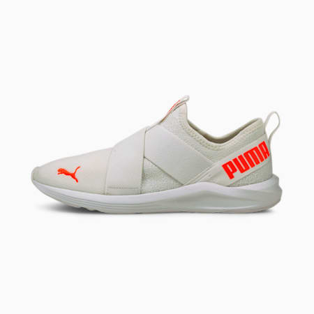 Prowl Slip-On Floral Women's Training Shoes, Puma White-Fiery Coral, small-IND