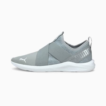 Prowl Slip-On Floral Women's Training Shoes, Quarry-Puma White, small-IND