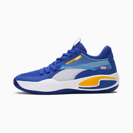 Court Rider basketbalschoenen, Dazzling Blue-Saffron, small