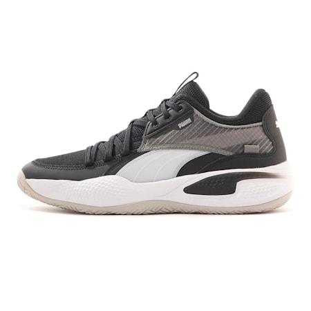 Court Rider basketbalschoenen, Puma Black-Puma White, small