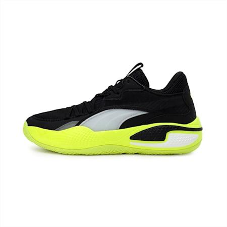 Court Rider Basketball Shoes, Puma Black-Yellow Alert, small