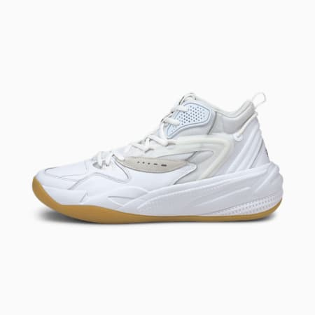 Dreamer 2 Mid Clean Basketball Shoes, Puma White-Puma White, small-IND