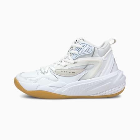 Dreamer 2 Mid Clean Youth Basketball Shoes, Puma White-Puma White, small