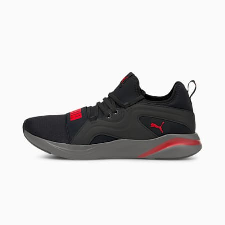 Softride Rift Breeze Men's Running Shoes, Puma Black-High Risk Red, small-IND