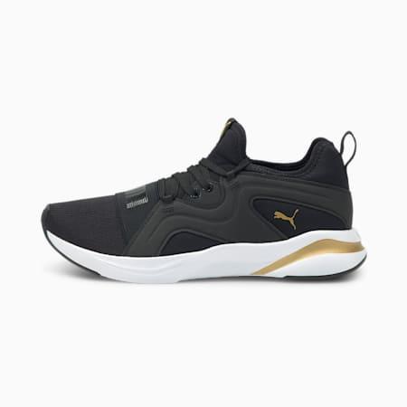 Zapatillas de running para mujer Softride Rift Breeze, Puma Black-Puma Team Gold, small