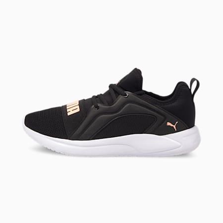 Resolve Street Women's Running Shoes, Puma Black-Elektro Peach, small-IND