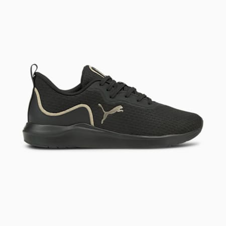 Softride Finesse Women's Running Shoes, Puma Black-Puma Team Gold, small-IND