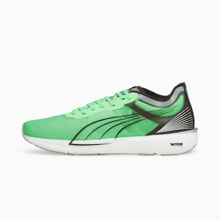 Liberate Nitro COOLadapt Men's Running Shoes, Elektro Green-Silver-Black, small-IND
