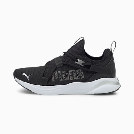 Softride Rift Slip-On Animal Women's Running Shoes, Puma Black-CASTLEROCK, small-IND