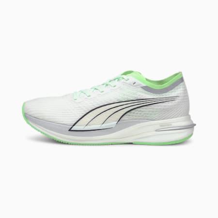 Deviate Nitro COOLadapt Men's Running Shoes, White-Elektro Green-Silver, small
