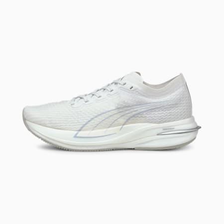 Zapatos para correr Deviate NITRO COOLadaptpara mujer, Puma White-Gray Violet, pequeño