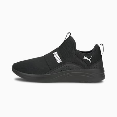 Zapatos para correr sin cordones Softride Sophiapara mujer, Puma Black-Puma White, pequeño