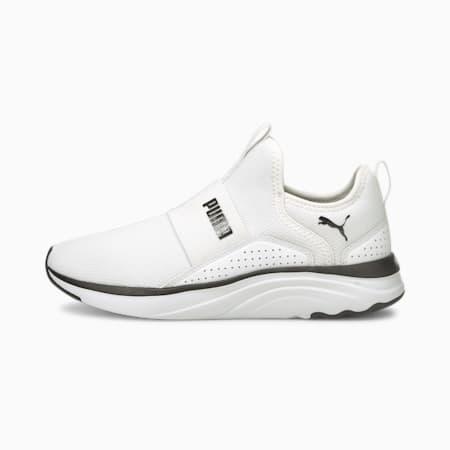 Zapatos para correr sin cordones Softride Sophiapara mujer, Puma White-Puma Black, pequeño