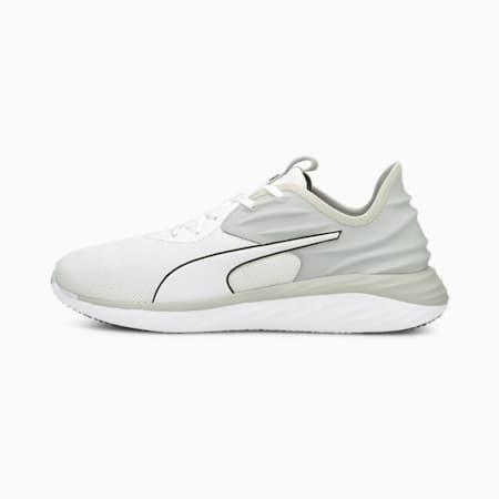 Zapatos para correr Better Foam Emerge 3D para hombre, Puma White-Gray Violet-Puma Black, pequeño