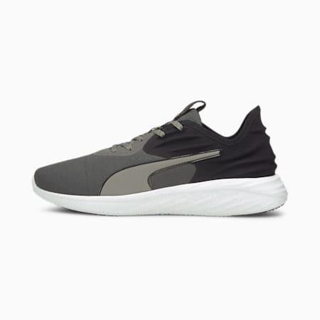 Zapatos para correr Better Foam Emerge 3D para hombre, CASTLEROCK-Puma Black-Orange Glow, pequeño