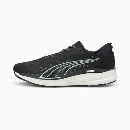 Zapatos deportivos para correr Magnify Nitro para hombre, Puma Black-CASTLEROCK-Puma White, pequeño