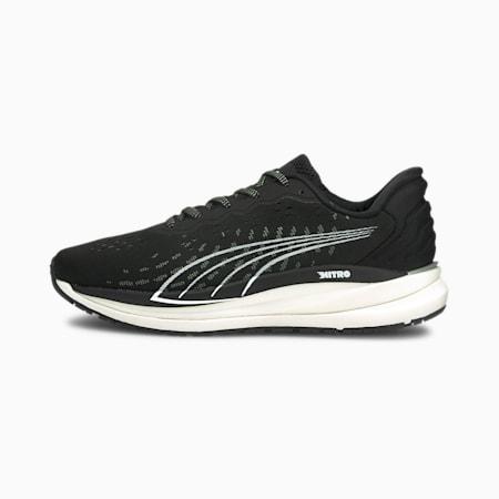 Magnify Nitro Women's Running Shoes, Puma Black-CASTLEROCK-Puma White, small-GBR