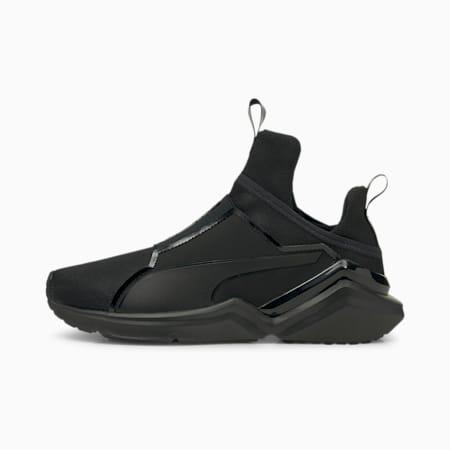 Zapatos de entrenamientoFierce 2para mujer, Puma Black-Metallic Silver, pequeño