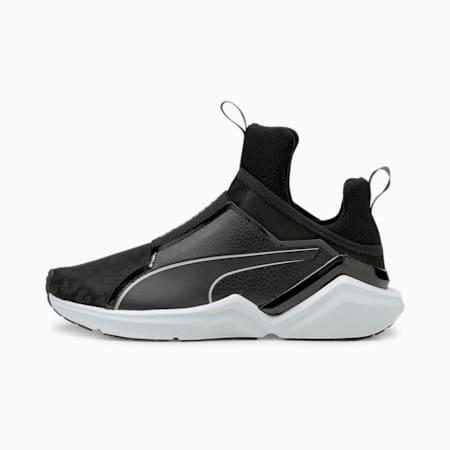 Zapatos deportivos de entrenamiento Fierce 2 Reflective para mujer, Puma Black-Metallic Silver, pequeño