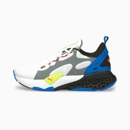 Zapatos deportivos XETIC Halflife para hombre, Puma White-Puma Black-Ultra Blue, pequeño
