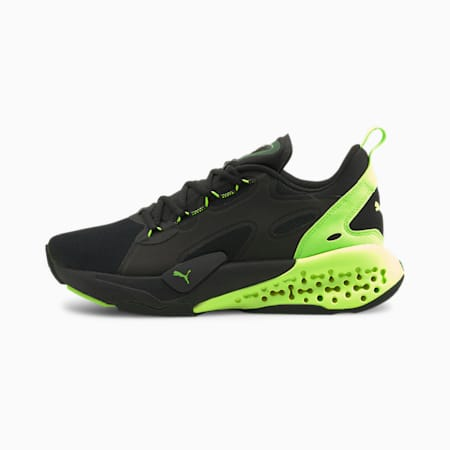 Xetic Half Life Unisex Running Shoes, Puma Black-Green Glare, small-IND