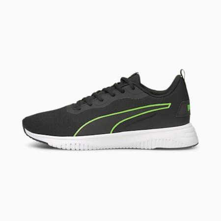 Flyer Flex Unisex Running Shoes, Puma Black-Green Glare, small-IND