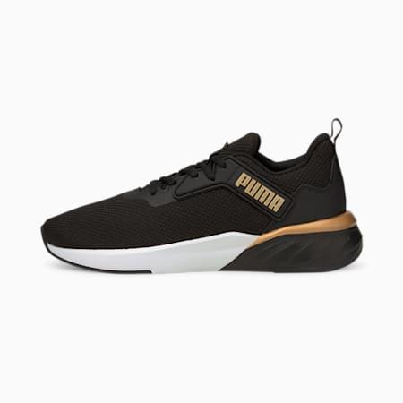 Zapatos para correr Erupter para mujer, Puma Black-Puma Team Gold, pequeño