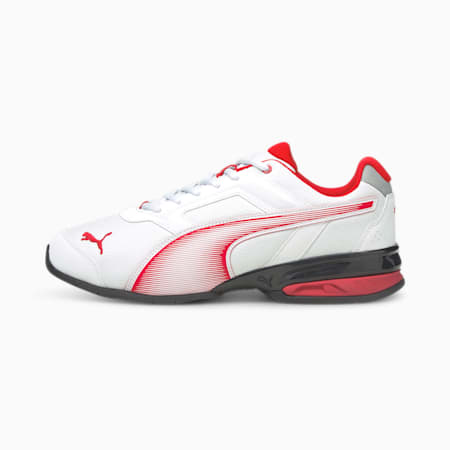 Tazon 7 Unisex Running Shoes, Puma White-High Risk Red, small-IND