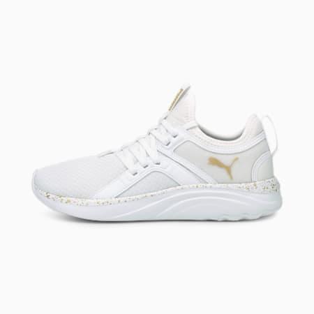 Zapatos para correrSoftRide Sophia Shimmer para mujer, Puma White-Puma Team Gold, pequeño