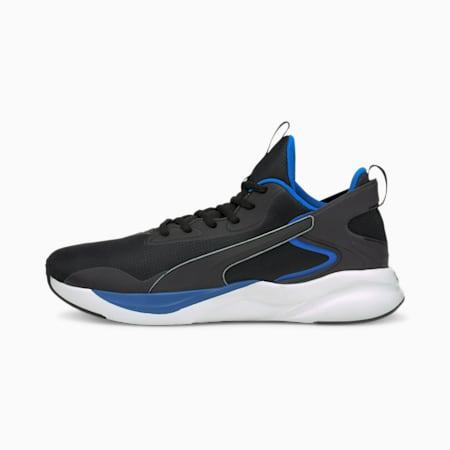 Zapatos para correr con relieve Softride Rift Tech para hombre, Puma Black-Future Blue, pequeño