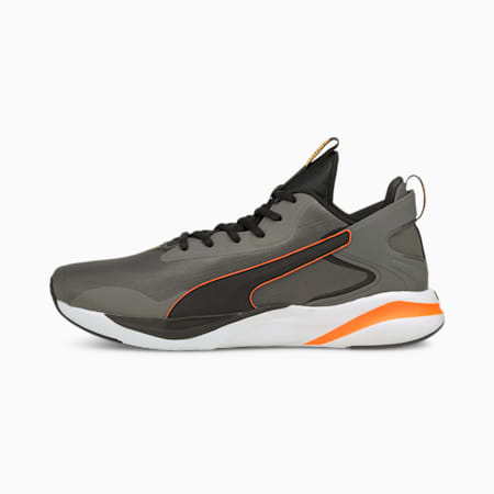 Zapatos para correr con relieve Softride Rift Tech para hombre, CASTLEROCK-Orange Glow-Puma Black, pequeño