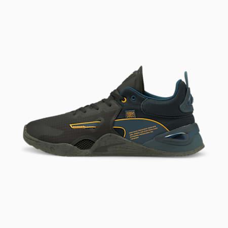 Zapatos de entrenamiento PUMA x FIRST MILE Fuse Utility para hombre, Intense Blue-Puma Black, pequeño