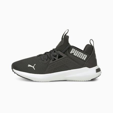 Zapatos para correr Softride Enzo NXTpara mujer, Puma Black-Metallic Silver, pequeño