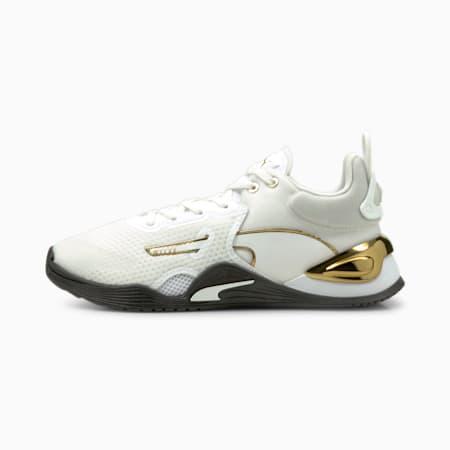 Zapatos deportivos Fuse Moto para mujer, Puma White-Puma Black, pequeño