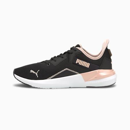 Zapatos de entrenamiento Platinum Shimmer para mujer, Puma Black-Lotus, pequeño