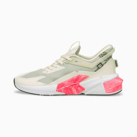 Zapatos de entrenamiento PUMA x FIRST MILE Provoke XT Utility para mujer, Ivory Glow-Jadeite, pequeño