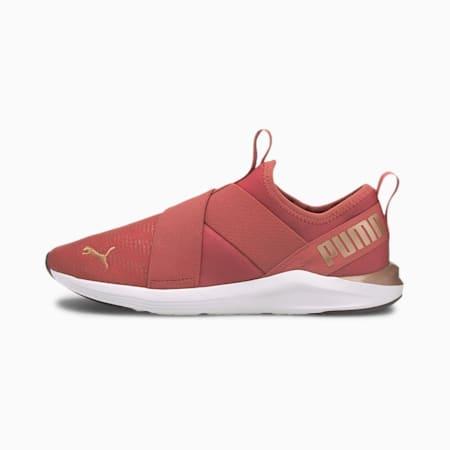 Zapatos de entrenamiento sin cordones Prowl Shine para mujer, Mauvewood-Rose Gold, pequeño