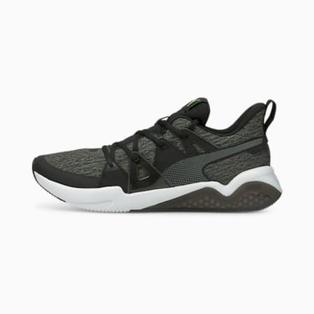 Zapatos para correr de punto Cell Fraction para hombre, Puma Black-Green Glare, pequeño