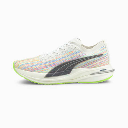 Damskie buty do biegania Deviate Nitro Spectra, Puma White-Green Glare, small