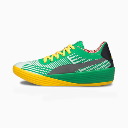 Clyde All-Pro Elf Basketball Shoes, Bright Green-ULTRA YELLOW, small