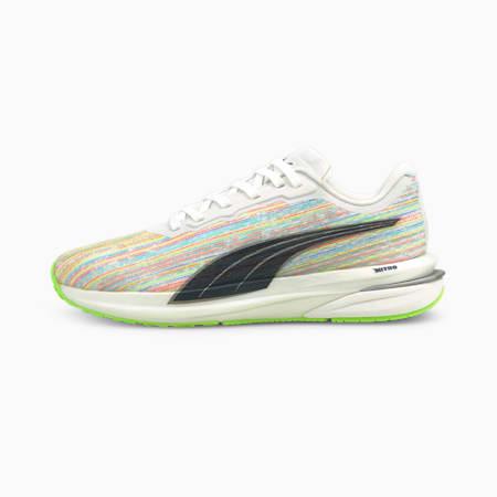 Velocity Nitro Spectra Women's Running Shoes, Puma White-Spellbound-Green Glare, small