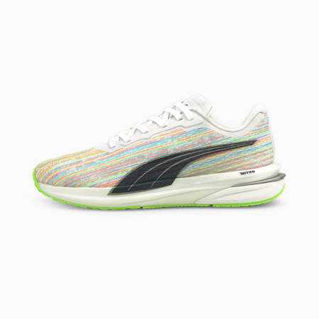 Velocity Nitro Spectra Women's Running Shoes, White-Spellbound-Green, small-GBR