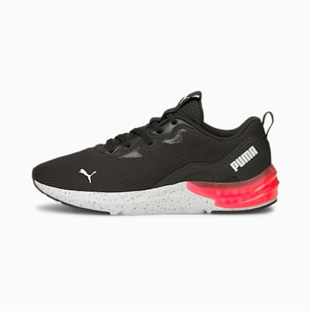 Cell Initiate Speckle Women's Running Shoes, Puma Black-Sunblaze, small-IND