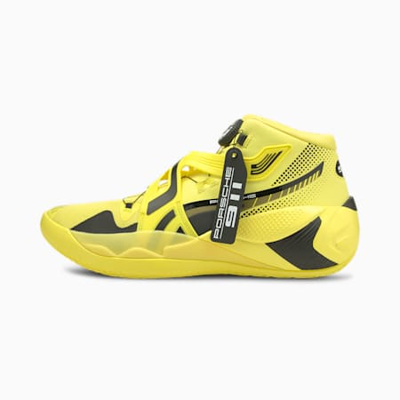 Porsche Design Disc Rebirth Basketball Shoes, Celandine-Puma Black, small