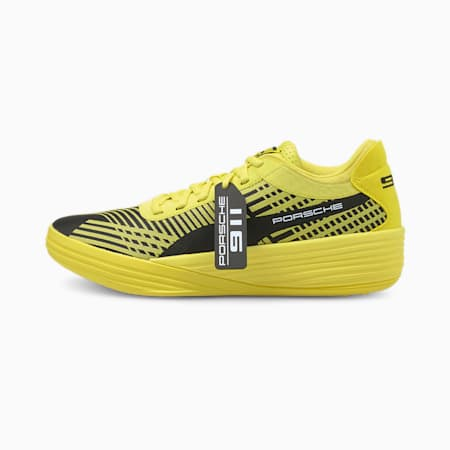 Clyde All-Pro Porsche Basketball Shoes, Celandine-Puma Black, small-GBR